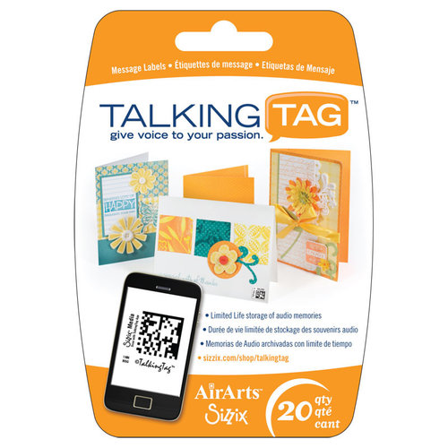 Sizzix - Air Arts - Talking Tag Audio Message Labels - 20 Pack