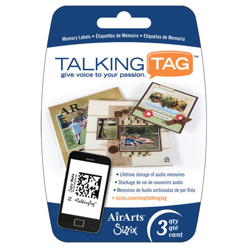 Sizzix - Air Arts - Talking Tag Audio Memory Labels - 3 Pack