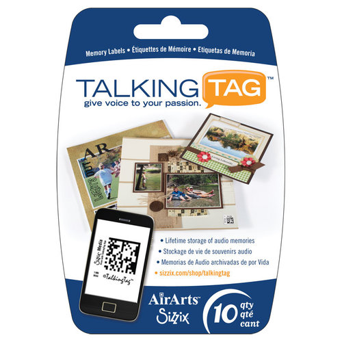 Sizzix - Air Arts - Talking Tag Audio Memory Labels - 10 Pack