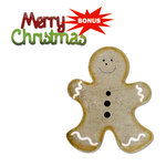 Sizzix - Basic Grey - Bigz and Sizzlits Die - Nordic Holiday Collection - Die Cutting Template - Gingerbread Man and Merry Christmas