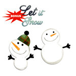 Sizzix - Basic Grey - Bigz and Sizzlits Die - Nordic Holiday Collection - Die Cutting Template - Snowmen and Let it Snow