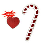 Sizzix - BasicGrey - Nordic Holiday Collection - Bigz and Embosslits Die - Candy Canes and Heart