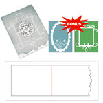 Sizzix - Basic Grey - Bigz and Textured Impressions - Nordic Holiday Collection - Extra Long Die Cutting Template and Embossed Folders - Card, Ornate 3 and Frames Set