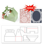Sizzix - BasicGrey - Nordic Holiday Collection - Bigz XL Die and Embossing Folder - Carry All Box and Let it Snow Set