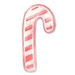 Sizzix - Holiday Collection - Embosslits Die - Christmas - Small - Candy Cane