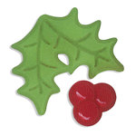 Sizzix - Embosslits Die - Holiday Collection - Christmas - Die Cutting Template - Small - Holly and Berries