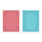 Sizzix - Textured Impressions - Holiday Collection - Embossing Folders - Ornate Frames Set 2