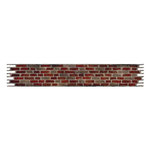Sizzix - Tim Holtz - Sizzlits Decorative Strip Die - Alterations Collection - Die Cutting Template - Brick Wall