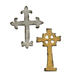 Sizzix - Tim Holtz - Movers and Shapers Die - Alterations Collection - Die Cutting Template - Mini Ornate Crosses