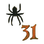 Sizzix - Tim Holtz - Movers and Shapers Die - Alterations Collection - Die Cutting Template - Mini Spider and 31