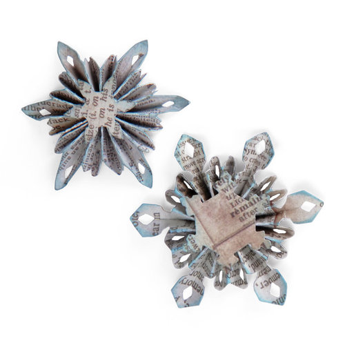 Sizzix - Tim Holtz - Sizzlits Decorative Strip Die - Alterations Collection - Die Cutting Template - Mini Snowflake Rosette