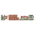 Sizzix - Tim Holtz - Sizzlits Decorative Strip Die - Alterations Collection - Die Cutting Template - Stacked Words, Christmas