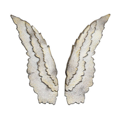Sizzix - Tim Holtz - Bigz Die - Alterations Collection - Die Cutting Template - Layered Angel Wings