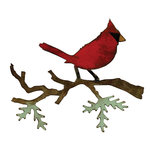 Sizzix - Tim Holtz - Bigz Die - Alterations Collection - Die Cutting Template - Christmas Cardinal