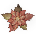 Sizzix - Tim Holtz - Bigz Die - Alterations Collection - Die Cutting Template - Tattered Poinsettia