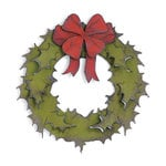Sizzix - Tim Holtz - Bigz Die - Alterations Collection - Die Cutting Template - Holiday Wreath