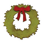 Sizzix - Tim Holtz - Movers and Shapers Die - Alterations Collection - Die Cutting Template - Mini Wreath and Bow
