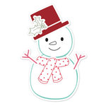 Sizzix - Hero Arts - Framelits - Die Cutting Template and Repositionable Rubber Stamp Set - Snowman 2