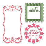 Sizzix - Hero Arts - Framelits Die and Repositionable Rubber Stamp Set - Tags
