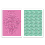 Sizzix - Textured Impressions - Embossing Folders - English Botanical and Houndstooth Set