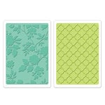 Sizzix - Textured Impressions - Embossing Folders - Rose Vines and Trellis Set