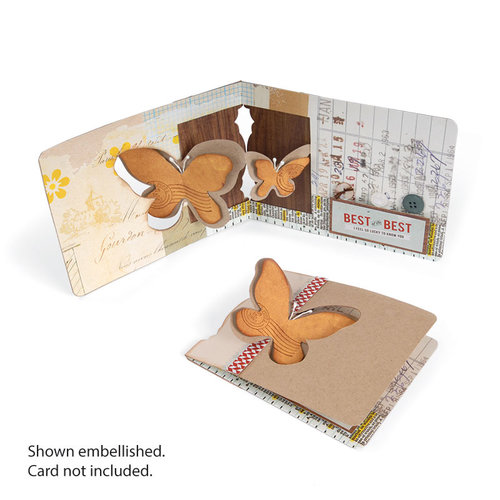 Sizzix - Pop 'n Cuts Magnetic Die - 3-D Pop Up - Butterfly Window
