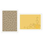 Sizzix - Textured Impressions - Embossing Folders - Coffee Set