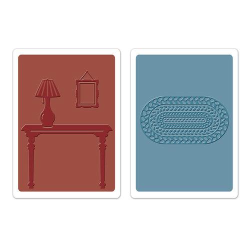 Sizzix - Textured Impressions - Embossing Folders - Foyer Set