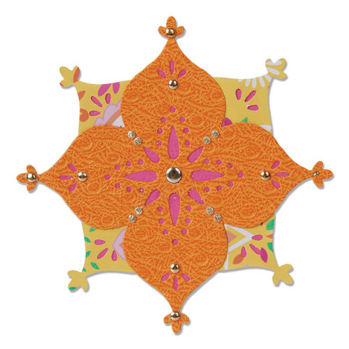 Sizzix - Moroccan Collection - Sizzlits Die - Flower, Arabesque