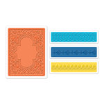 Sizzix - Moroccan Collection - Textured Impressions - Embossing Folders - Moroccan Set