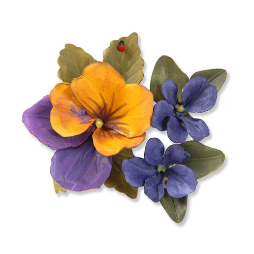 Sizzix - Susan's Garden Collection - Thinlits Die - Flower, Pansy Violet