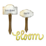 Sizzix - Bigz Die - Phrase, Bloom and Plant Markers