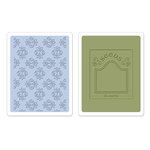 Sizzix - Textured Impressions - Embossing Folders - Rosebuds and Seed Packet Set
