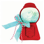 Sizzix - Antique Faire Collection - Bigz Die and Embossing Folder - Gumball Machine