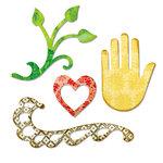 Sizzix - Sizzlits Die - Flourish, Hand, Heart and Vine