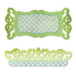 Sizzix - Sizzlits Die - Label and Edge, Scrollwork