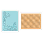 Sizzix - Textured Impressions - Embossing Folders - Butterfly Lattice Set