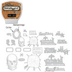 Sizzix - EClips - Tim Holtz - Alterations Collection - Electronic Shape Cutting System - Cartridge - Stamp2Cut - Number 23