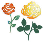 Sizzix - Sizzlits Die - Die Cutting Template - Roses Flower Set