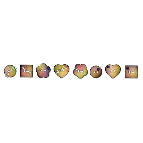 Sizzix - Prima - Sizzlits Decorative Strip Die - Sew Cute
