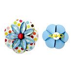 Sizzix - Sizzlits Decorative Strip Die - Flower, Folded