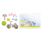 Sizzix - Framelits Die and Embossing Folders - Delightful Bicycle Set