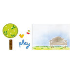 Sizzix - Framelits Die and Embossing Folders - Playing in the Park Set