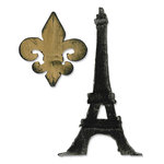 Sizzix - Tim Holtz - Bigz Die - Die Cutting Template - Fleur de Lis and Eiffel Tower