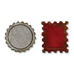 Sizzix - Tim Holtz - Alterations Collection - Movers and Shapers Die - Die Cutting Template - Mini Bottle Cap and Stamp