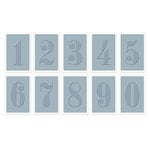 Sizzix - Tim Holtz - Alterations Collection - Texture Trades - Embossing Folders - Numbers Set