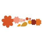 Sizzix - Framelits - Die Cutting Template - Flower Layers and Leaf