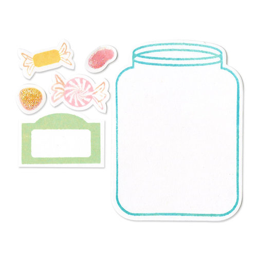 Sizzix - Framelits Die and Clear Acrylic Stamp Set - Jar