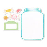 Sizzix - Framelits - Die Cutting Template and Clear Acrylic Stamp Set - Jar