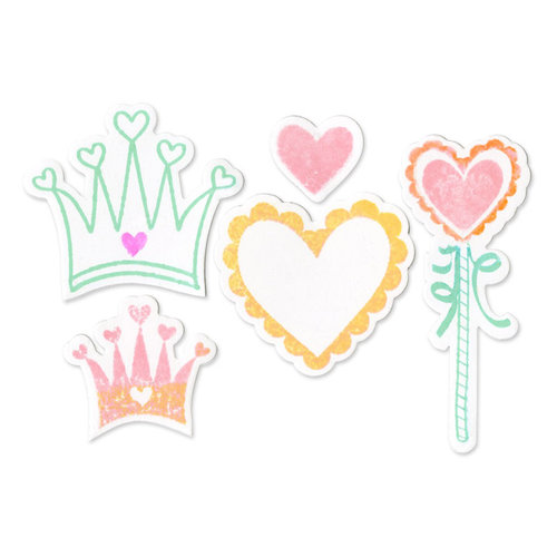 Sizzix - Framelits Die and Clear Acrylic Stamp Set - Princess